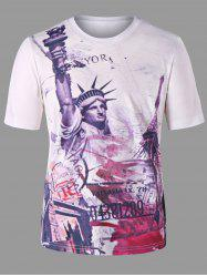 Statue of Liberty Print T-shirt -