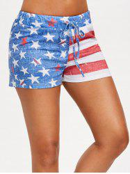 Shorts à cordon drapeau USA -