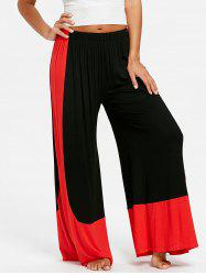 High Waist Color Block Palazzo Pants -