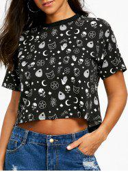 Round Neck Cool Graphic Tee -