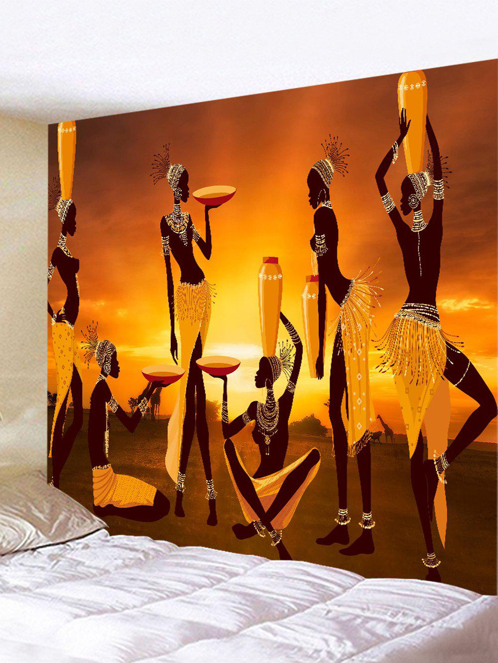 2019 African Women Paiting Print Tapestry Wall Hanging Art