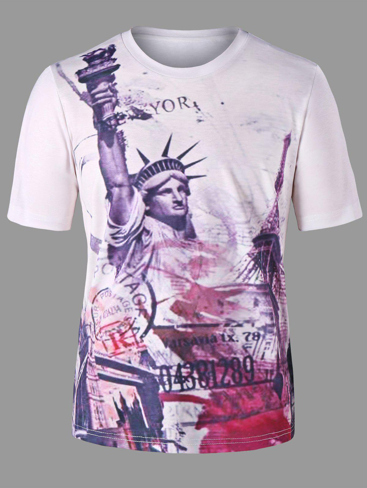 Affordable Statue of Liberty Print T-shirt