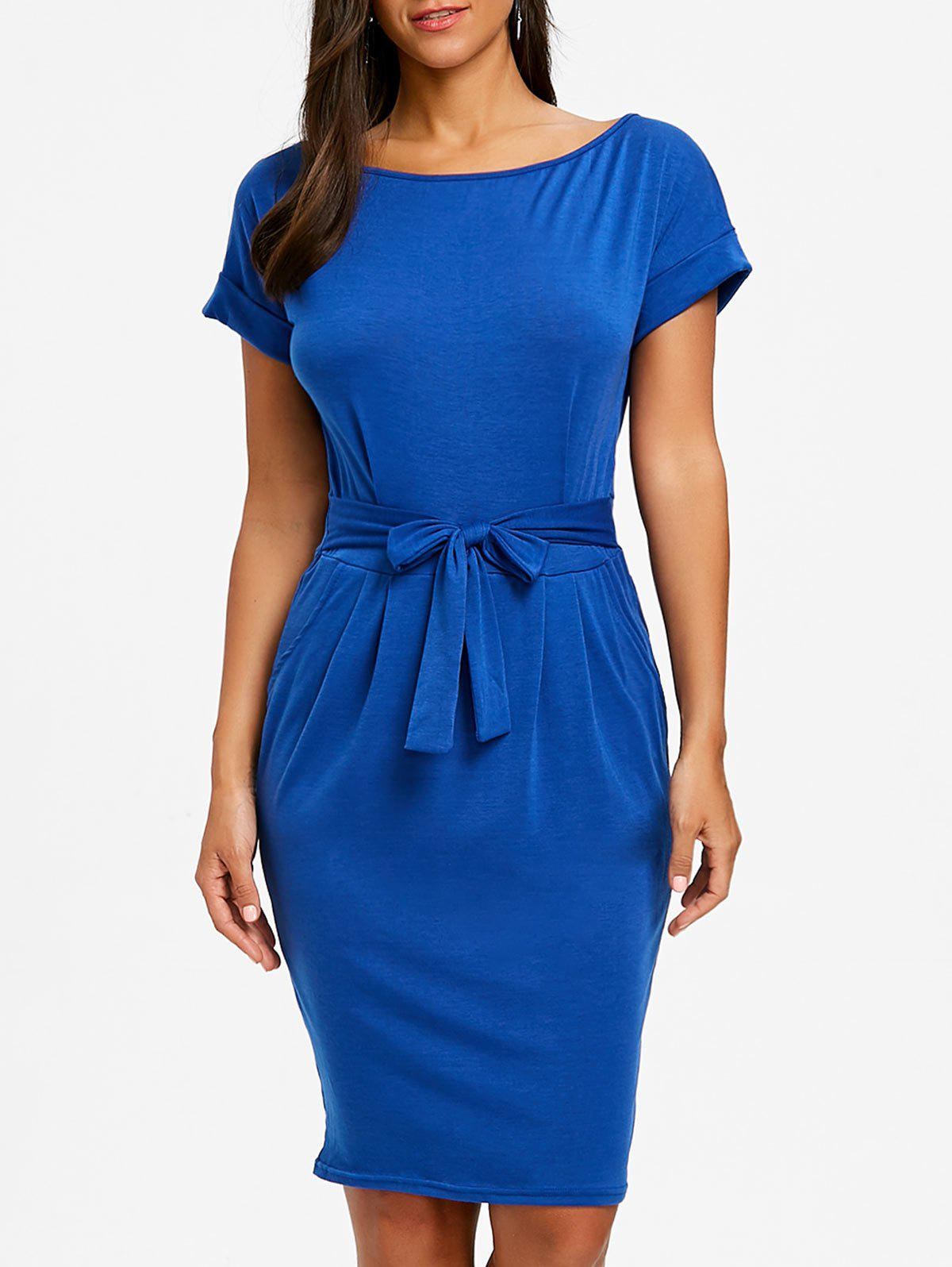 Outfits Casual Boat Neck Dress