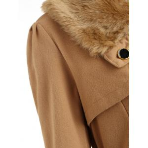 Skirted A Line Coat with Belt -