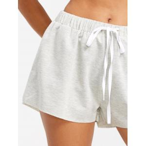 Drawstring Raw Hem Jogging Shorts -