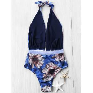 Hawaiian Plongeant One Piece String Maillots de bain -