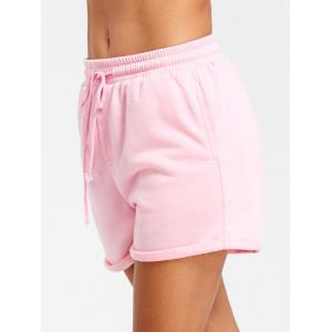 Drawstring Cuffed Jogging Shorts -