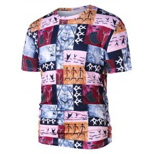 Warli Tribal Print Crew Neck T-shirt -