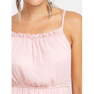 High Waisted Chiffon Slip Dress -