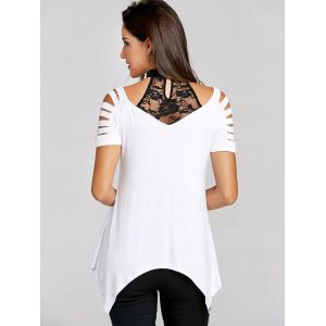 Lace Heart Ripped T-shirt -