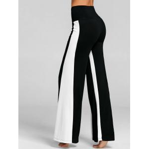High Waist Two Tone Wide Leg Pants -