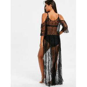 Cold Shoulder Maxi Lace Cover Up -