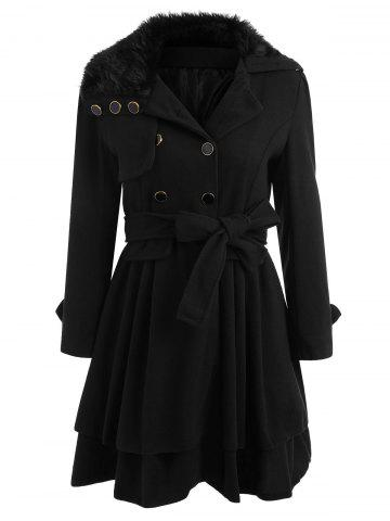 Fashion Skirted A Line Coat with Belt