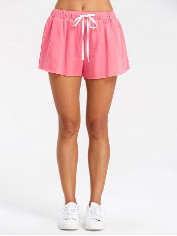 Sale Drawstring Raw Hem Jogging Shorts