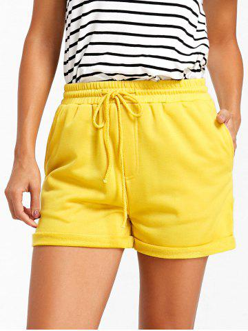 Affordable Drawstring Cuffed Jogging Shorts