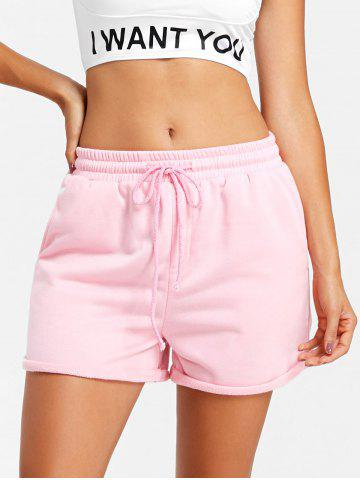 Cheap Drawstring Cuffed Jogging Shorts