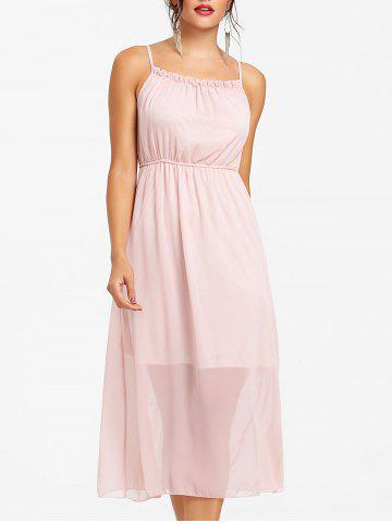 Outfits High Waisted Chiffon Slip Dress