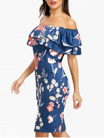 Chic Off The Shoulder Ruffle Night Out Dress