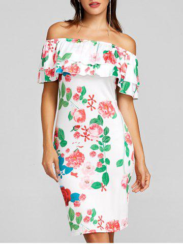 Outfits Off The Shoulder Ruffle Night Out Dress