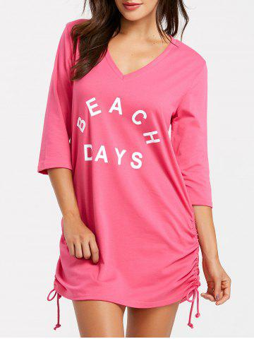 Discount Mini Beach V Neck Cover Up Dress