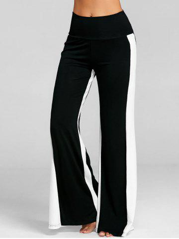 Latest High Waist Two Tone Wide Leg Pants