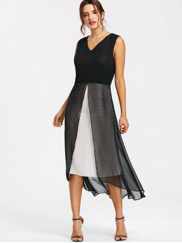 High Low Sleeveless A Line Dress