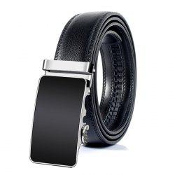 Vintage Metal Polished Buckle Embellished Faux Leather Belt -