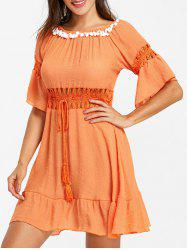 Flare Sleeve Crochet Cover Up -