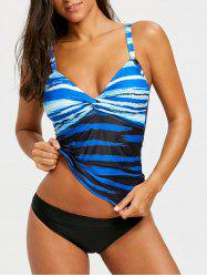 Twist Striped Tankini Set -