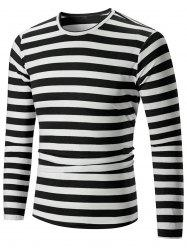Casual Striped Print Long Sleeve T-shirt -