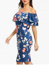 Off The Shoulder Ruffle Night Out Dress -