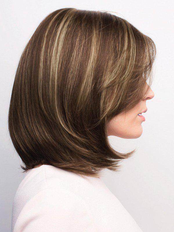 2019 Short Side Parting Highlight Straight Bob Synthetic Wig