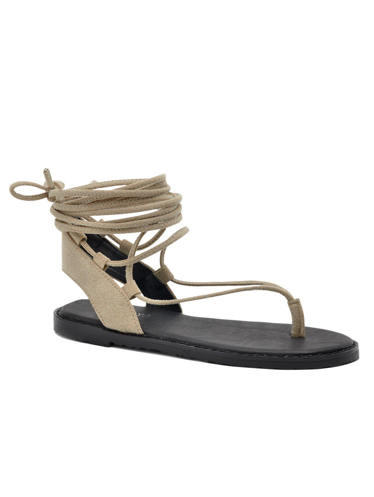 018e9249e28 2019 Chic Lace Up Sandals For Holiday