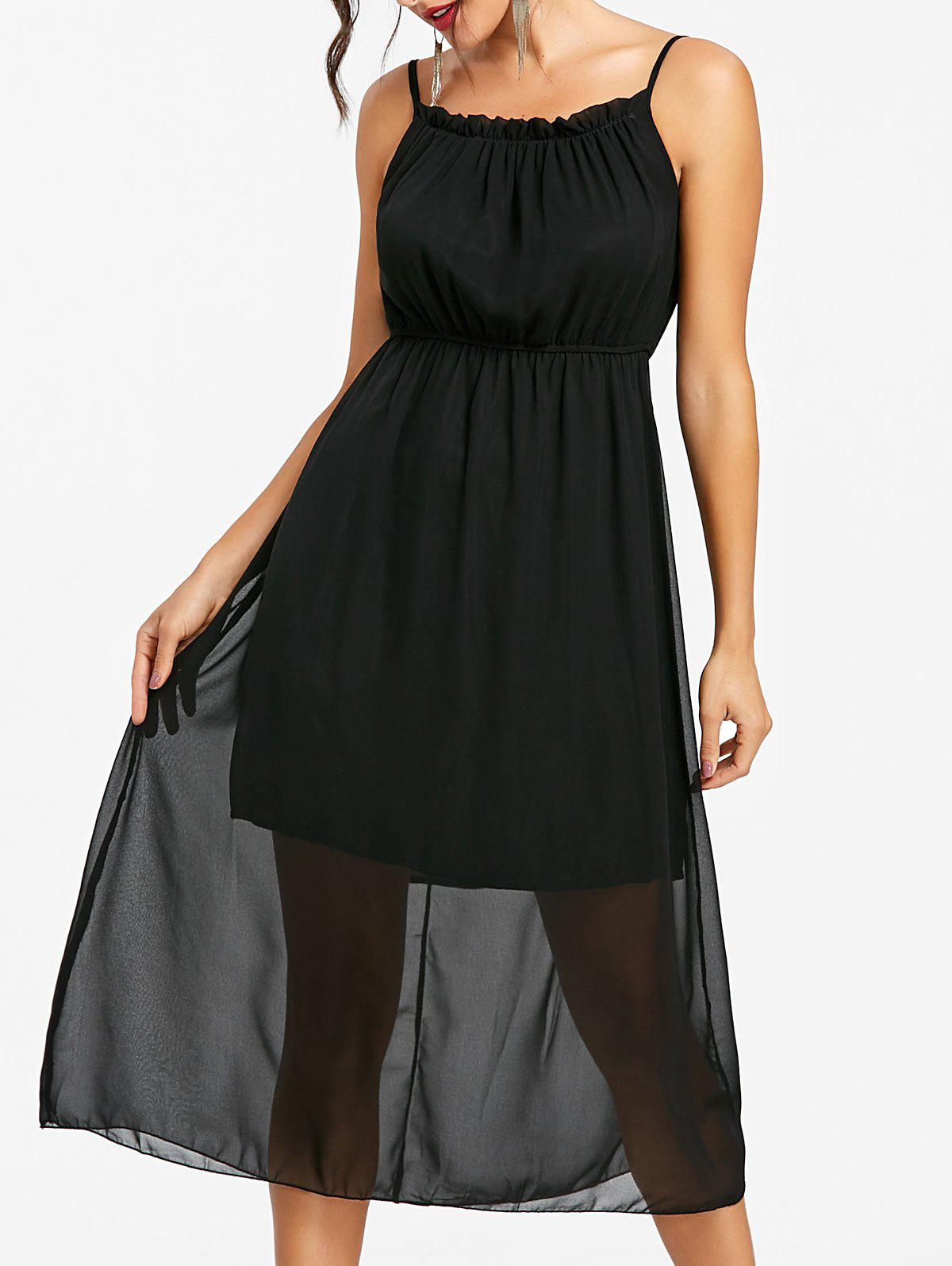 New High Waisted Chiffon Slip Dress