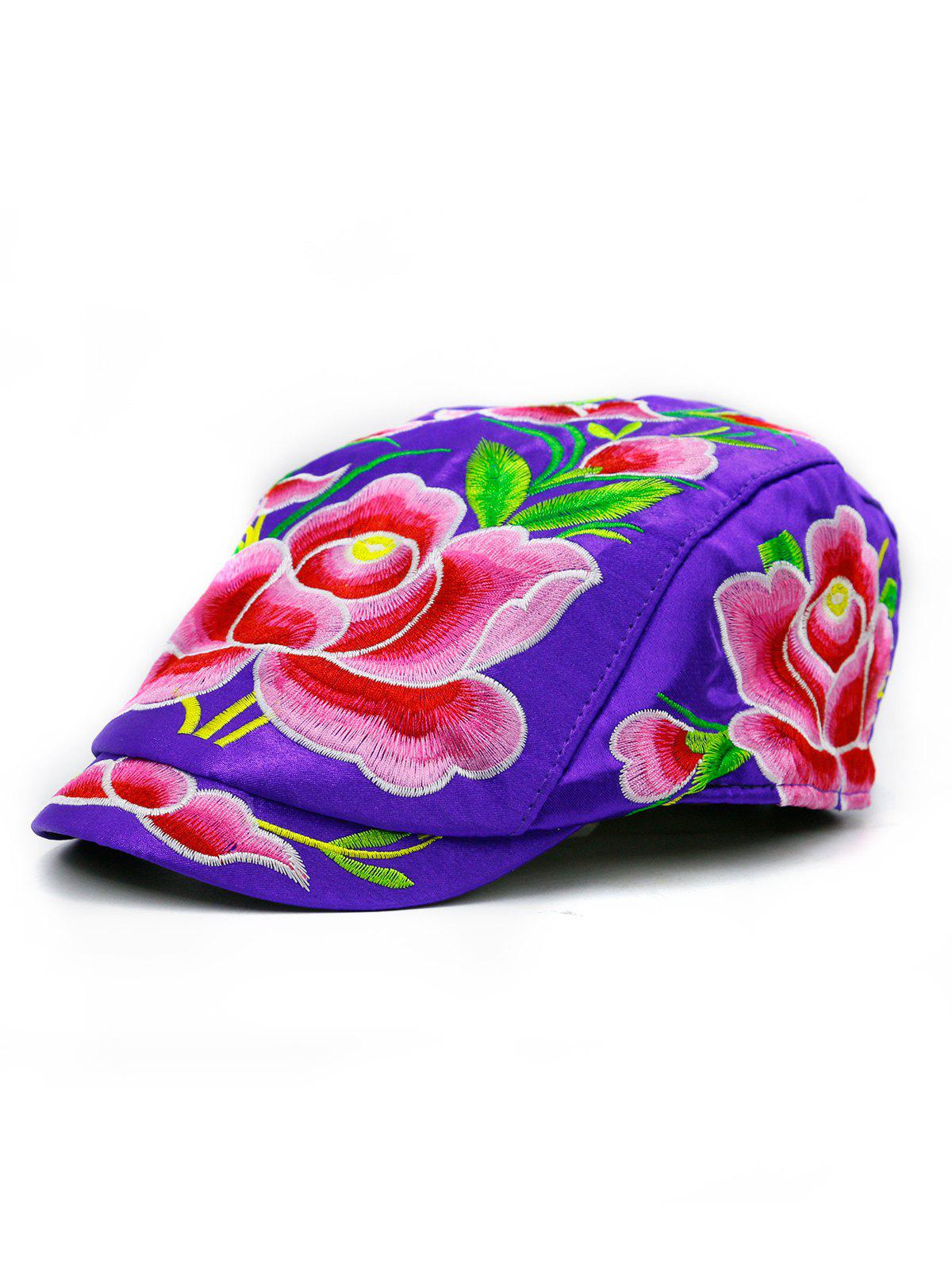 Outfits Lotus Flower Embroidery Ivy Hat d44efdeba24a