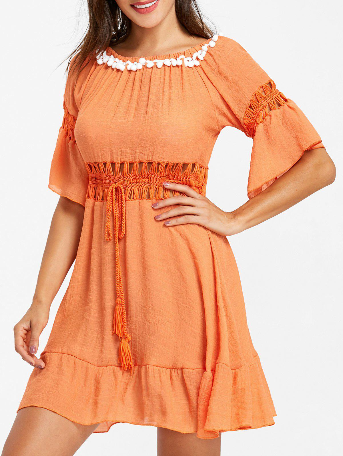 Hot Flare Sleeve Crochet Cover Up