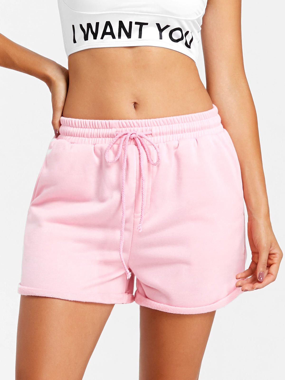 Chic Drawstring Cuffed Jogging Shorts