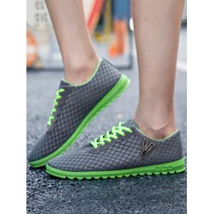 Skidproof V Print Breathable Casual Shoes -