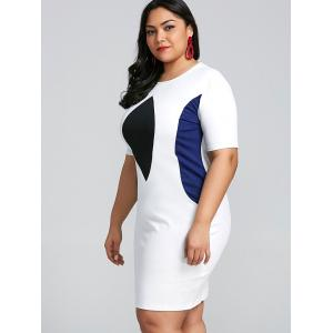 Color Block Plus Size Bodycon Dress -