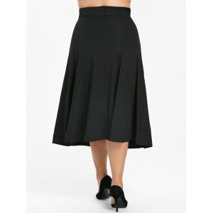 Back Zipper Plus Size Midi skirt -