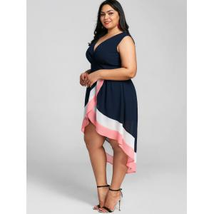 Plus Size Overlap Maxi Surplice Dress -