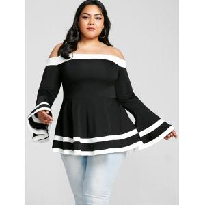 Plus Size Off The Shoulder Bell Sleeve Top -