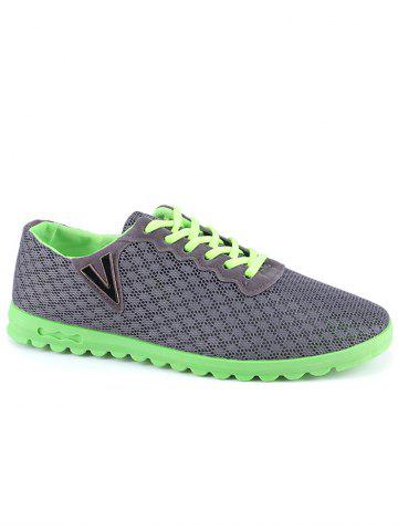 Chic Skidproof V Print Breathable Casual Shoes