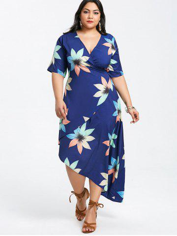 Blue Deep Plunging Neck Dress Free Shipping Discount And Cheap