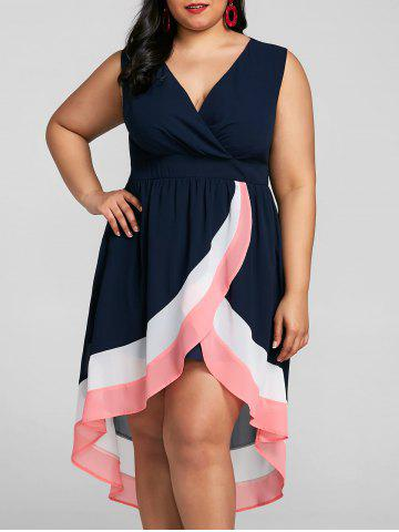 Fancy Plus Size Overlap Maxi Surplice Dress