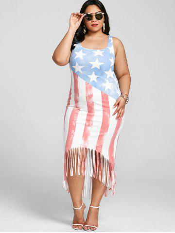 3bb61a8afe3 Plus Size American Flag Tank Dress