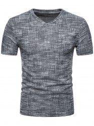 Knitted Design Short Sleeve T-shirt -