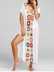 Floral Crochet Maxi Cover-up -