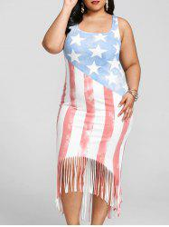Plus Size American Flag Tank Dress -
