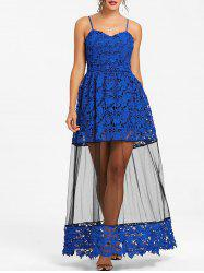 Lace Long Party Slip Dress -